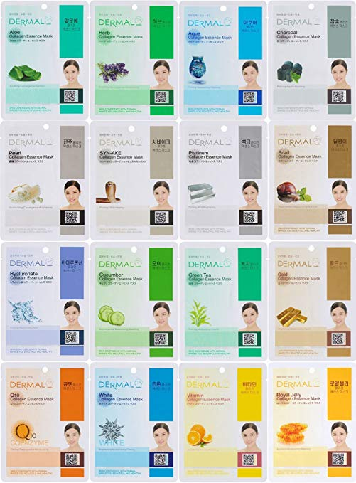 Dermal Korea Collagen Essence Full Face Facial Sheet Mask